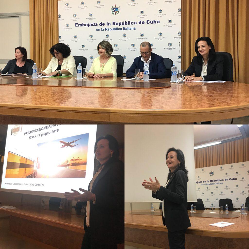 Presentazione fihav 2018 presso l ambasciata di cuba roma for B b italia carugo